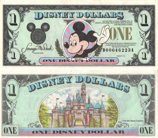 Disney Dollars - a tradition ruined
