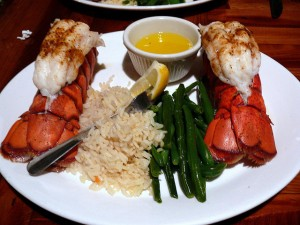Twin Lobster Tails from Cap'n Jacks part of an all-inclusive Walt Disney World Vacation