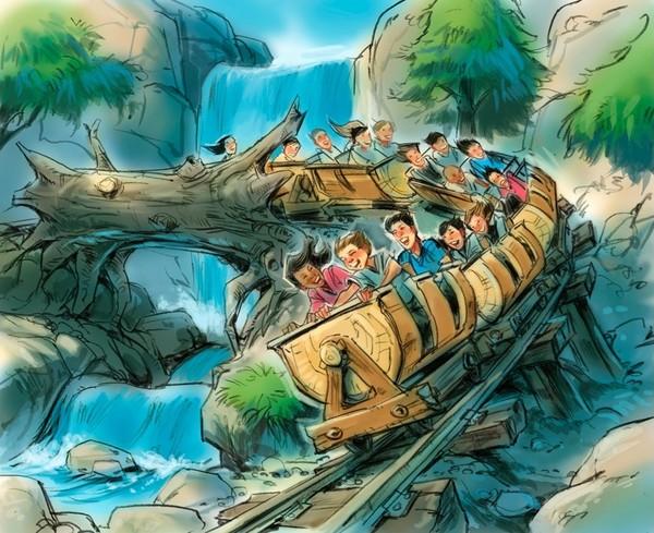 The new mine train ride in Fantasyland