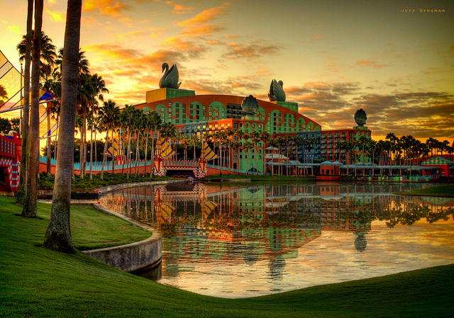 The Swan and Dolphin are the most obvious hotels on Disney Property