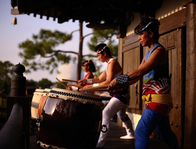 The Taiko Drummers at the Japan Pavilion in Epcot