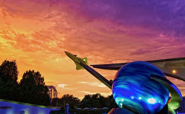 Sunset over Mission Space