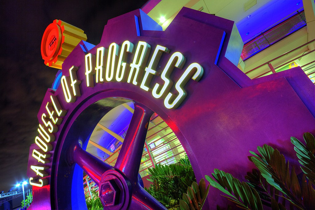 The Carousel of Progress Sign