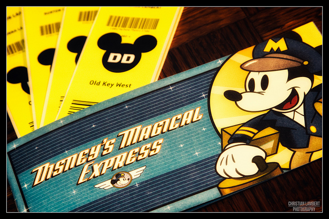 Luggage tags from Disney's Magical Express