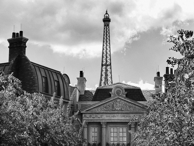 The France Pavilion at Epcot with the Eiffel Tower in the Background
