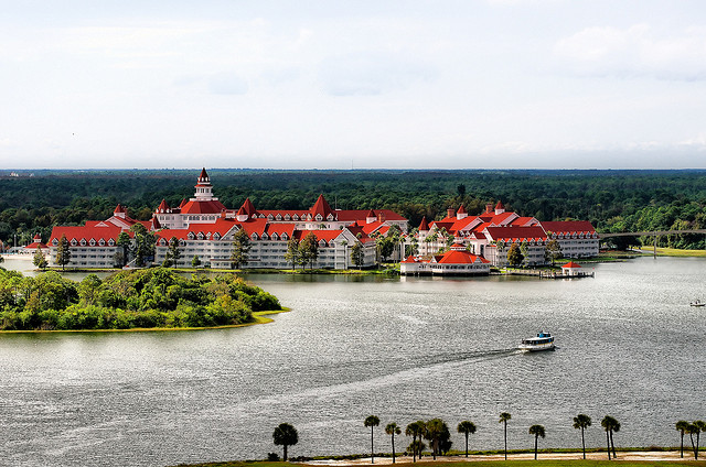 The Grand Floridian Resort from up high