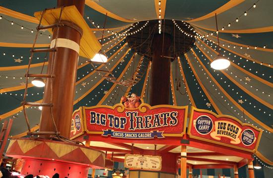 The inside of Big Top Souvenirs
