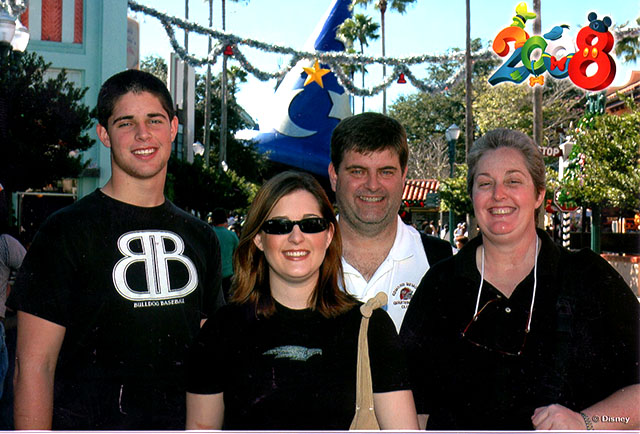 Dad and Family at WDW in 2008