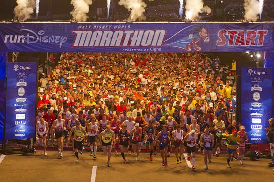 The start of the Disney World Marathon - Photo courtesy of Disney Parks Blog