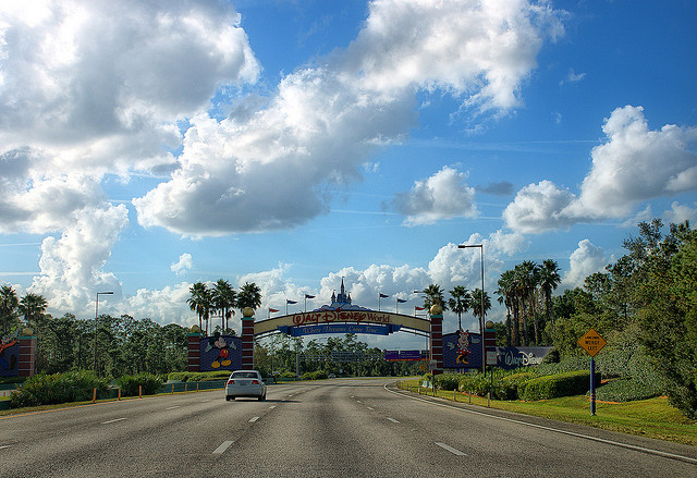 The entrance to Disney World