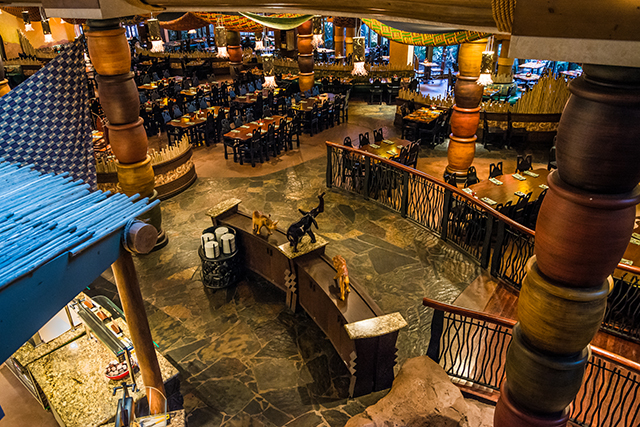 Looking down into Boma from the Animal Kingdom Lodge - by WDW Shutterbug