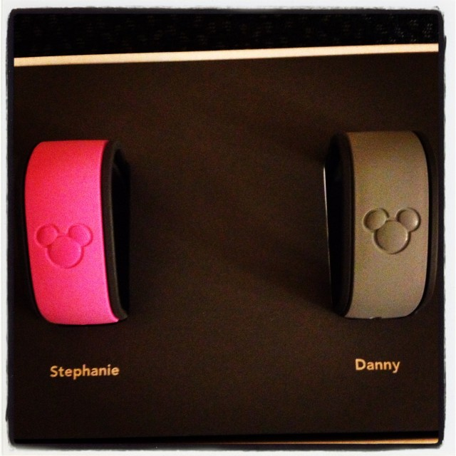 Everyone gets their own Magic Band! Photo by Stephanie Shuster