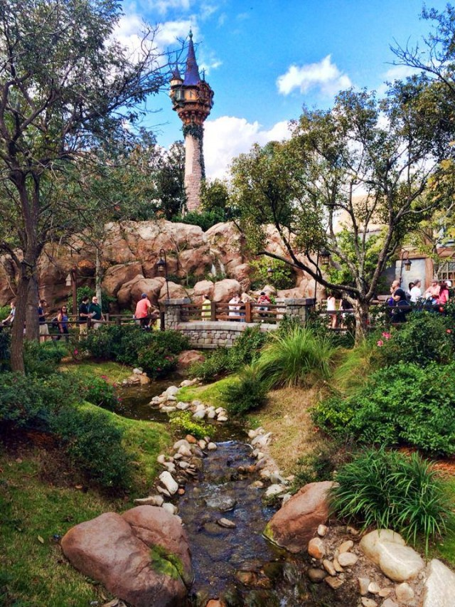 Tangled tower, Fantasyland, Disney World