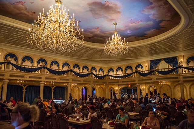 Dining in the Ballroom at Be Our Guest can take up some serious park time - Photo by Disney Image Makers