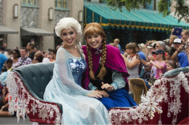 Elsa and Anna are shaking things up in Epcot - Photo courtesy of Disney