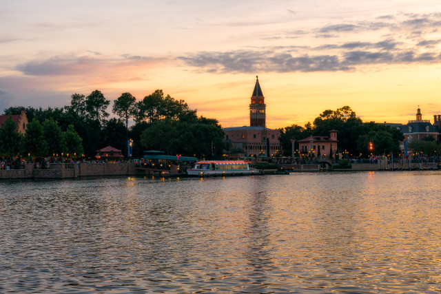 Friendship Boat docked at Epcot - Photo by Matthew Cooper