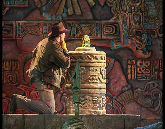 Indiana Jones making a fateful decision - Photo by Disney Photo Snapper