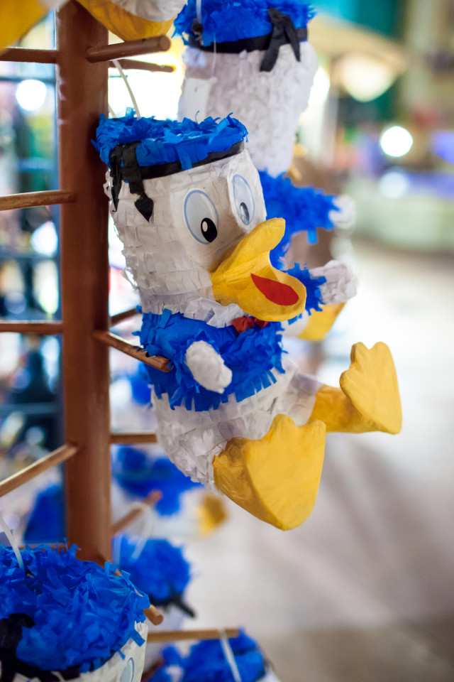 Donald comes to live as a pinata! Photo by Eric Weber.