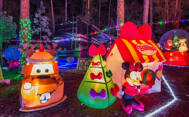 Campsite decorations at Fort Wilderness!  Photo by WDW Shutterbug.