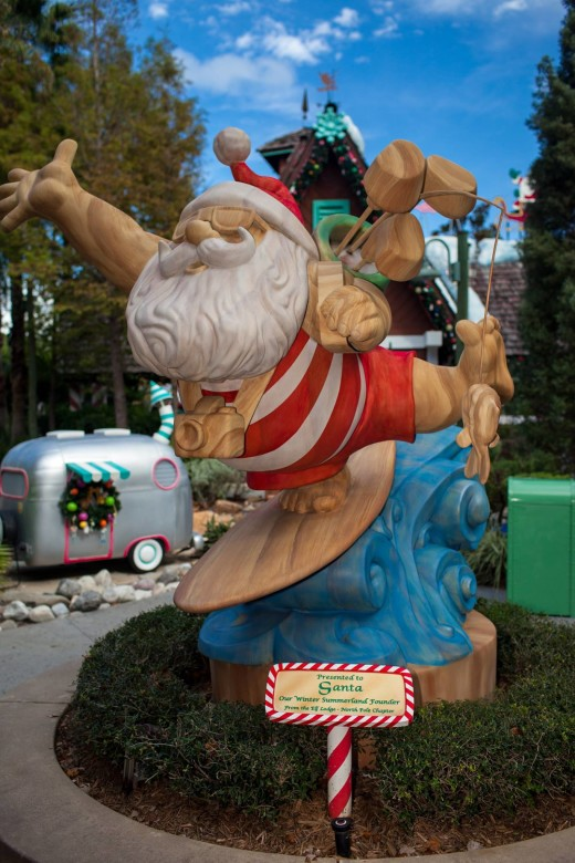 Santa at WinterSummerland at Walt Disney World