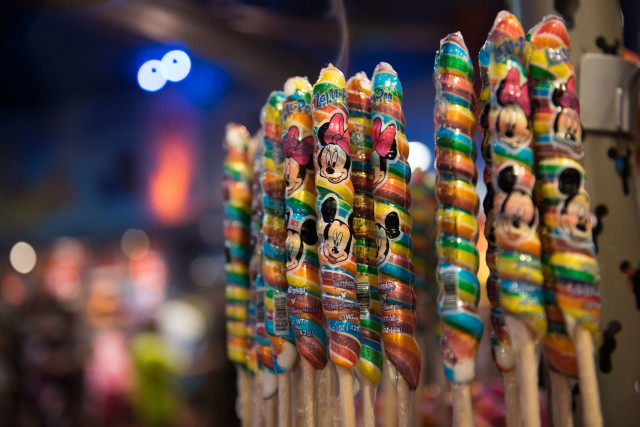 Unicorn lollipops all lined up! Photo by Laurie Sapp.
