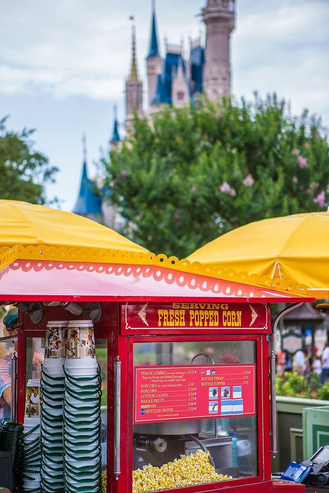 Popcorn carts welcome you to the Magic Kingdom!  Photo by Brett Svenson.