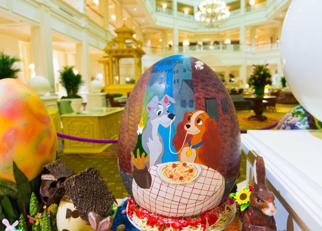 The Easter Eggs at the Grand Floridian are a must see - Photo by WDW Shutterbug