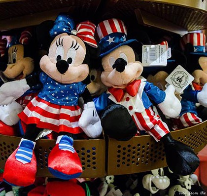 Even Mickey and Minnie get dressed up for the 4th of July - Photo by Pics from the World of Disney