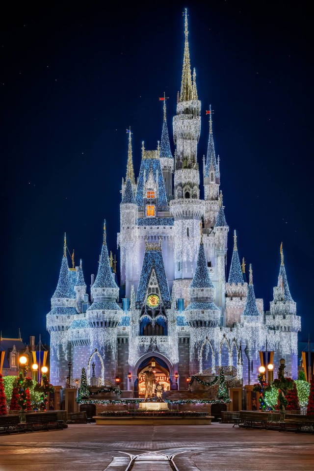 "Cinderella Castle gets ""Frozen"" - Photo by Matthew Cooper"