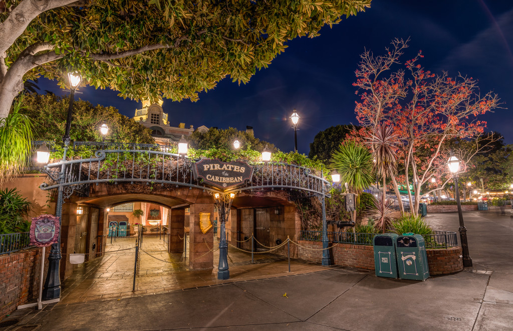 Pirates of the Caribbean is in New Orleans Square at Disneyland -  Photo by WDW Shutterbug.