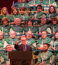 The Candlelight Processional is Dad's favorite thing at Christmas at WDW - Photo by Pics from the World of Disney