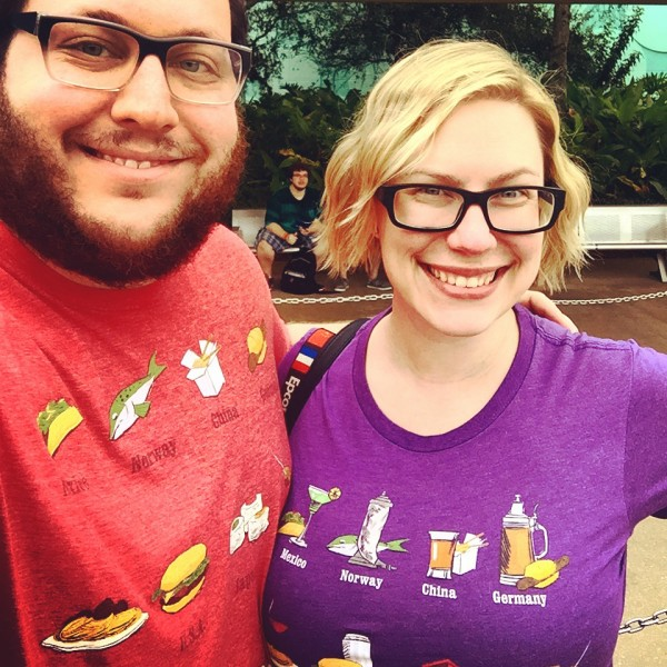 Matching tees - now that's foodie love! Photo by Stephanie Shuster.