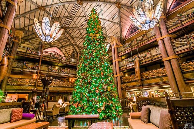 The Christmas Tree in the Animal Kingdom Lodge